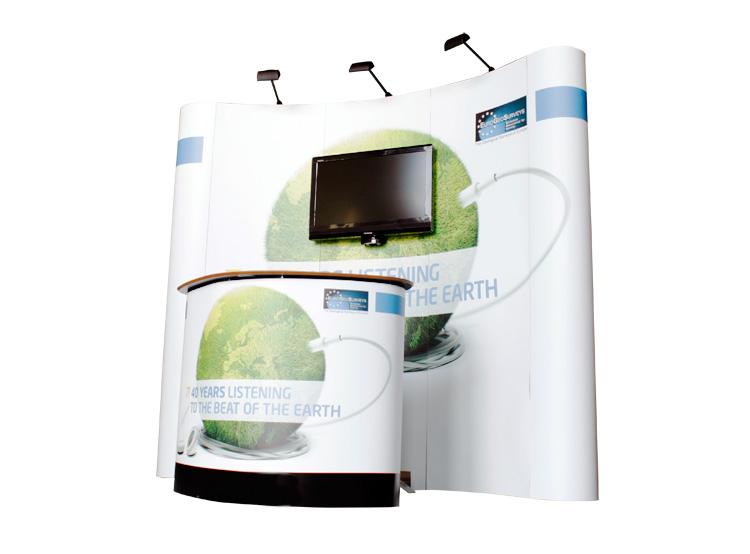 Stand portatili con Monitor - 3x3 curvo e desk trolley