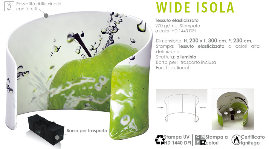 Wide fabric - Isola