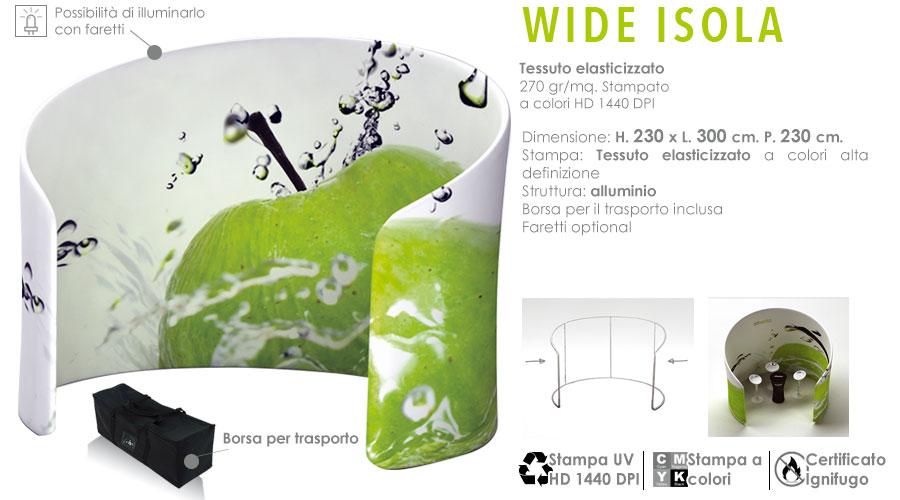 Wide fabric - Isola con stampa in tessuto elasticizzato
