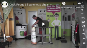 Video tutorial montaggio desk pop up un desk per fiere veloce da montare
