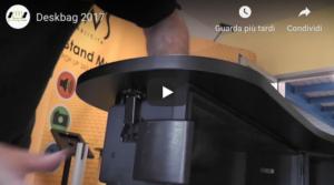 Video montaggio del banchetto promozionale deskbag