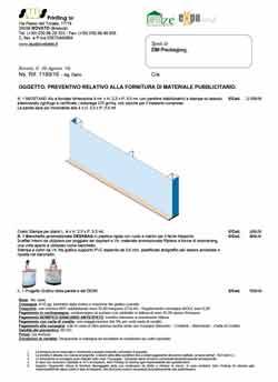 Preventivo miostand modulare