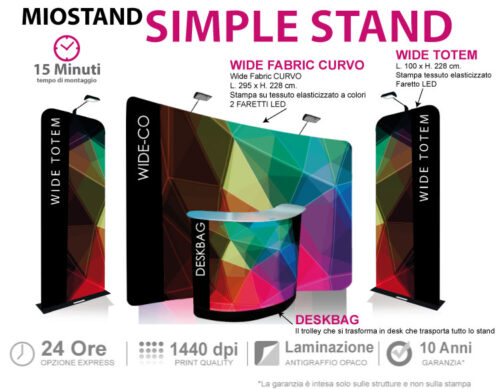 Simple Stand - lo stand che viaggia tutto in trolley
