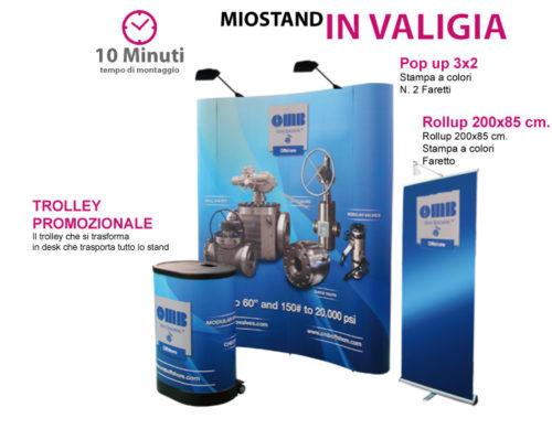 Stand in valigia