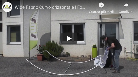 Video tutorial montaggio Wide fabric curvo