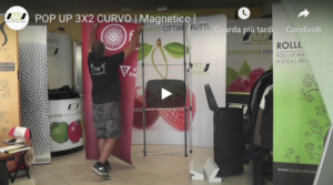 Video montaggio pop up stand 3x2