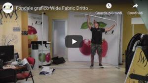 Video tutorial montaggio wide fabric dritto 300 x 228 cm.