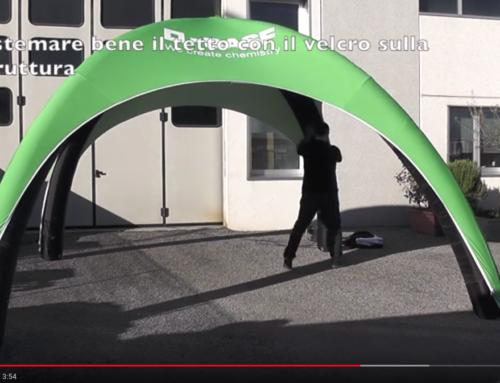 Gazebo Gonfiabile 4×4 metri | Video tutorial