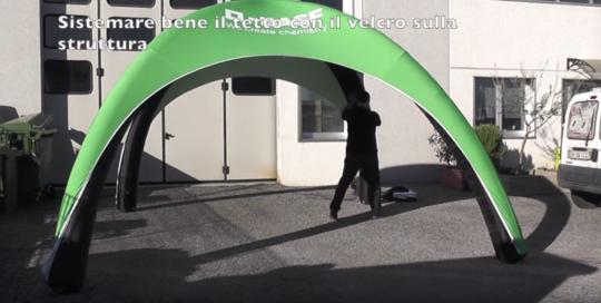 Gazebo gonfiabile 4x4 - video