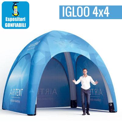 Gazebo gonfiabile 4x4 metri con stampa personalizzata