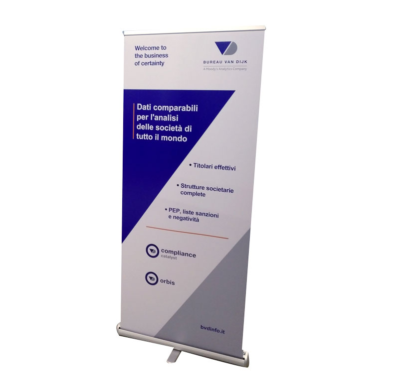 roll up 200x85 cm - Versione standard