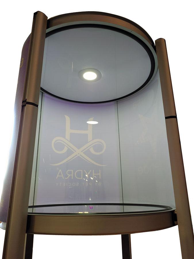 sistema illuminazione vetrinetta towers shop