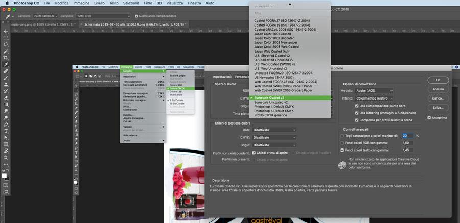 Stampa digitale applicazione di profilo