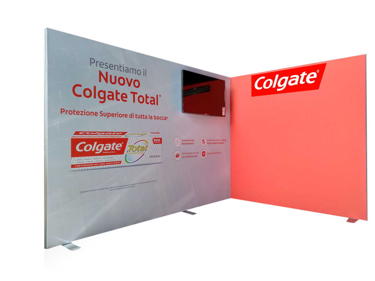 Stand 3x2 COLGATE - MIOSTAND ALU