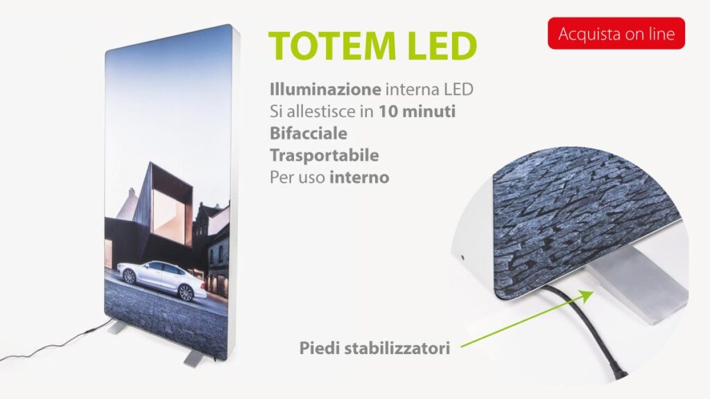 Totem led acquista on line