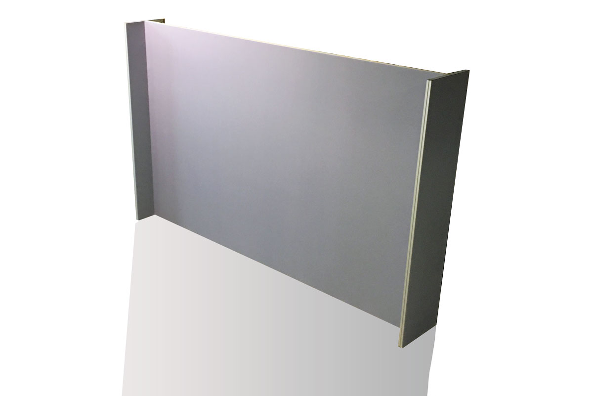 Parete per stand lineare - 490x300 cm. - MIOSTAND ALU
