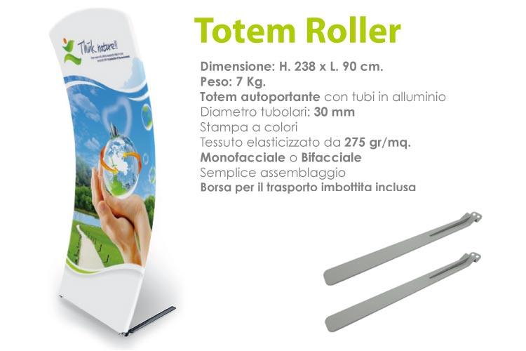 Totem roller - 238 x 90 cm.