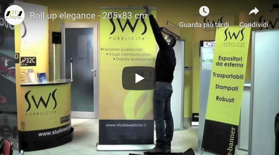 video tutorial montaggio di un roll up elegance 200x85 cm.