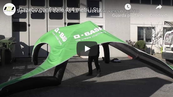 Video montaggio del gazebo gonfiabile 4x4 metri