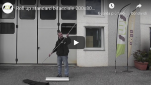 Video tutorial montaggio Roll up bifacciale standard 200x80 cm