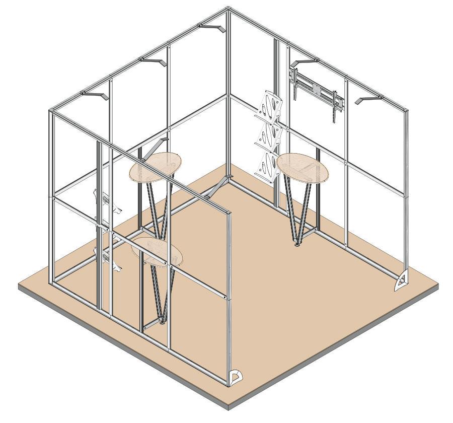Stand 3x3x3 render - MIOSTAND ALU