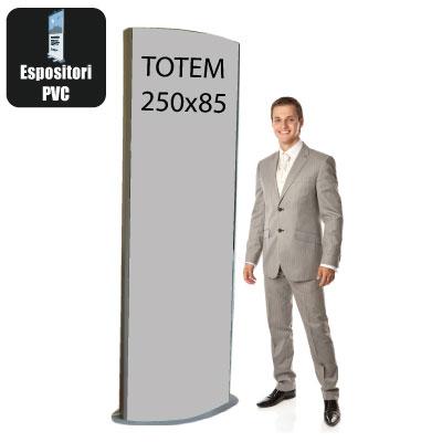 Totem pubblicitario H. 250 x L. 85 cm.