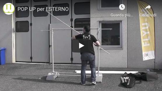 Video montaggio espositore pop up per esterno