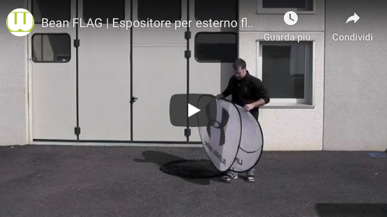 Video montaggio espositore bean flag