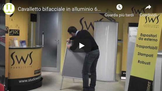 Video montaggio cavalletti pubblicitari